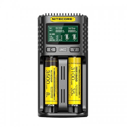 Nitecore UMS2 USB Dual-slot Charger